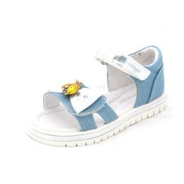 Босоножки для девочки Метелик голубые