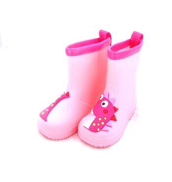 Детские резиновые для девочки  Дракоша розовые