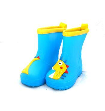 Детские резиновые сапожки Дракоша голубые