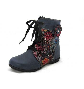 Демисезонные ботинки Ситец синие