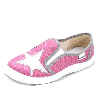 Тапочки для девочки Вика серебряная звезда