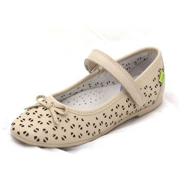 Туфли для девочки Лепестки кремовые (36)