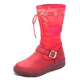Зимние сапоги для девочки Apple red
