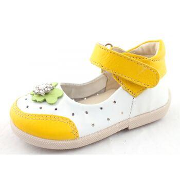 Туфли для девочки Лужайка желтые