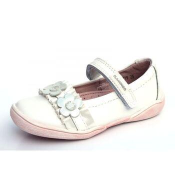 Туфли для девочки Гранат белые (25)