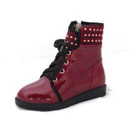 Демисезонные ботинки для девочки Вишня