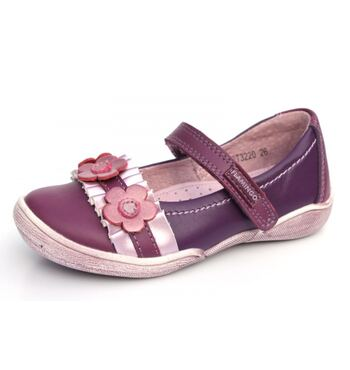 Туфли мокасины для девочки Гранат