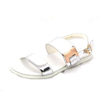 Летние сандалии для девочки Платина