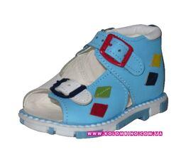 Ортопедические сандалии Ромбики голубые (18)