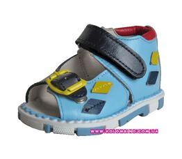 Ортопедические сандали Таши орто Ромбики сине голубые (18)