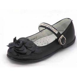 Туфли нарядные черного цвета для девочки BG Роза (27)