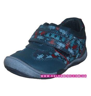 Демисезонные туфли для мальчика Фламинго Человечки синие (20)