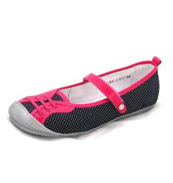 Туфли для девочки сине розовые Мальвы