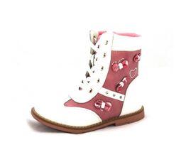 Демисезонные ботинки Сара белые (25)