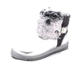 Зимние полусапожки для девочки Серебро с мехом