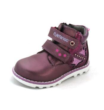 Демисезонные ботинки для девочки  82B-XY-1002 Фламинго